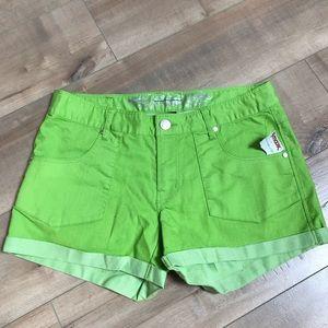 Express NWT Neon Green Shorts Sz 8
